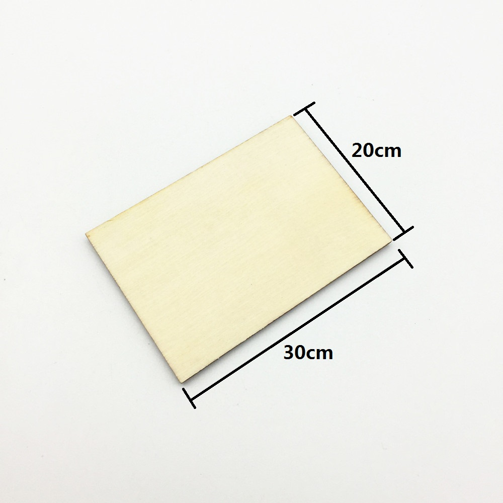 20x30cm Large Blank Plywood Wooden Unfinished Plaque Rectangles Shapes Sign DIY Decorations TAGS Crafts