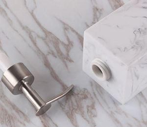Image 3 - Creative Resin Soap Bottle Hotel Marble Shampoo Dispenser Press  Hand Sanitizer Bottle Soap Dispenser Set 400ml/500ml