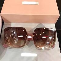 2018 роскошные взлетно посадочной полосы Солнцезащитные очки женские брендовые дизайнерские солнцезащитные очки для женщин Картер очки Y0902