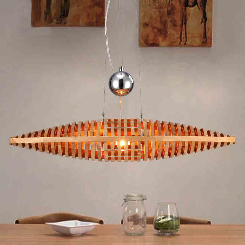 Northern Europe Designer Creative Marine Mussel Chandelier Living Room Restaurant Cafe Solid Wood Art Chandelier Free Shipping