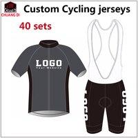 Пользовательские Дизайн Лето Велоспорт короткий рукав Джерси нагрудник Шорты для женщин Bike Racing Team дорога Байкер Велоспорт спортивный мягк