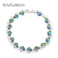 Amazing Rainbow Topaz Design Friendship Bracelets Silver Filled Australia Zirconia Super Supplier Fashion Jewelry TB903