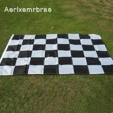 Spedizione gratuita aerlxemrbrae 3 * 5FT bandiera da corsa appesa bandiera a scacchi da corsa