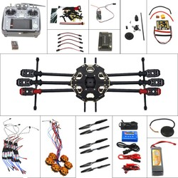 Full Helicopter Drone Aircraft Kit Tarot 680PRO Frame 700KV Motor GPS APM 2.8 Flight Control AT10 Transmitter F07807-A