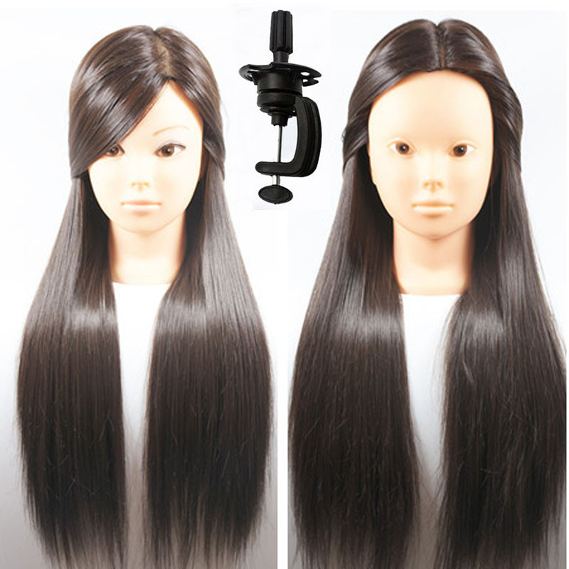 Hot Sale Female 26 Professional Hairstyling Training Mannequin Head Cosmetology Maniquin Manikin Wig Doll Heads With Free Clamp female 45cm professional hairstyling training head real human hair mannequin hairstyles model manikin wig dolls with clamp