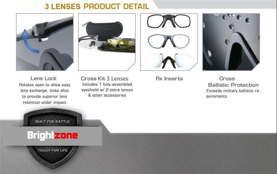 Brightzone NOS Óculos de Proteção Militar, Óculos Polarizados ... 8373c820b8