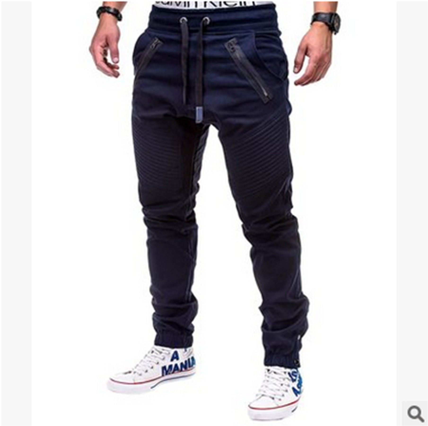 High Quality Mens Long Casual Pants Slim Fit Trousers Pencil Jogger Sweatpants