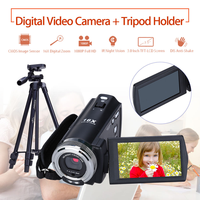 ORDRO HDV V12 3.0 LCD 1080P FHD Digital Camera Camcorder 16x Zoom DVR IR Night Vision CMOS Sensor Remote Control + Tripod