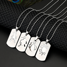 12 Style New Arrival Twelve Constellations Symbol Laser Printing Dog Tag Necklace Stainless Steel Pendant Do not Fade Rust