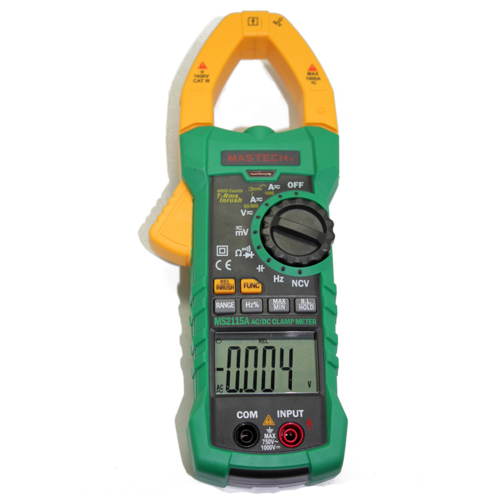 Ac Dc Clamp Meter : Mastech ms a ac dc digital clamp meter multimeter auto