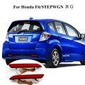 Para Honda Fit/STEPWGN RG Vermelho À Prova D' Água Choque Traseiro Refletor Da Lâmpada Estacionamento LED Car Cauda Aviso Queimador Luzes 12 V Parada Nevoeiro lâmpada