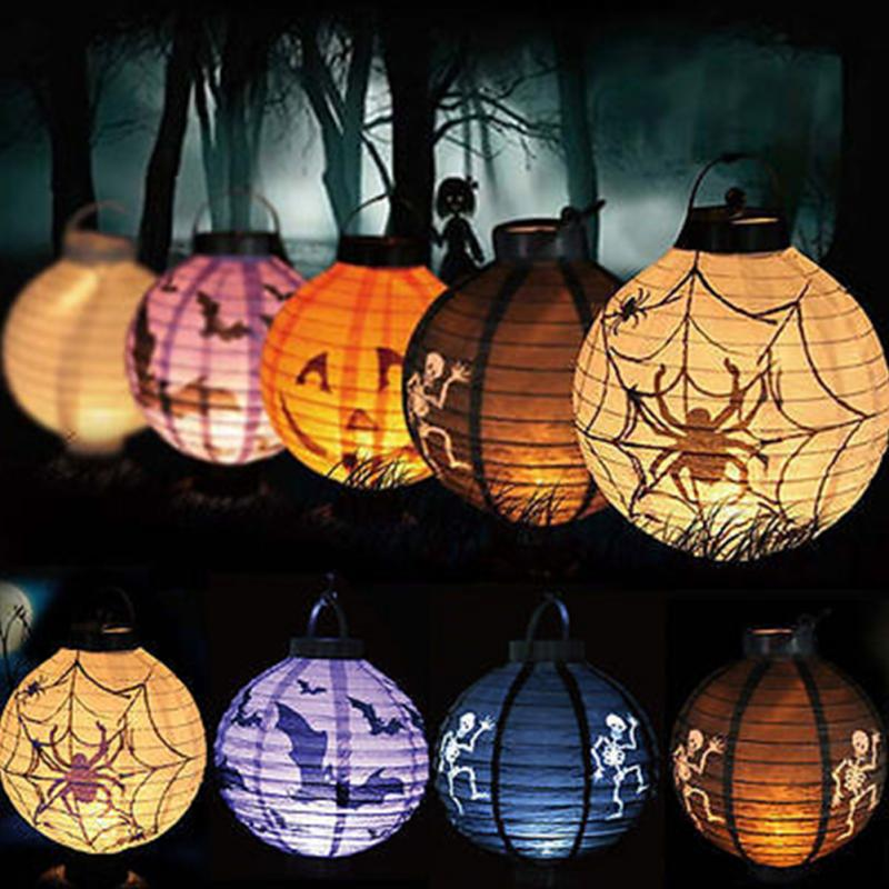 Good Quality Led Paper Pumpkin Bat Spider Hanging Lantern 100 Brand New Wire Lights Light Lamp Party Decor In Night From