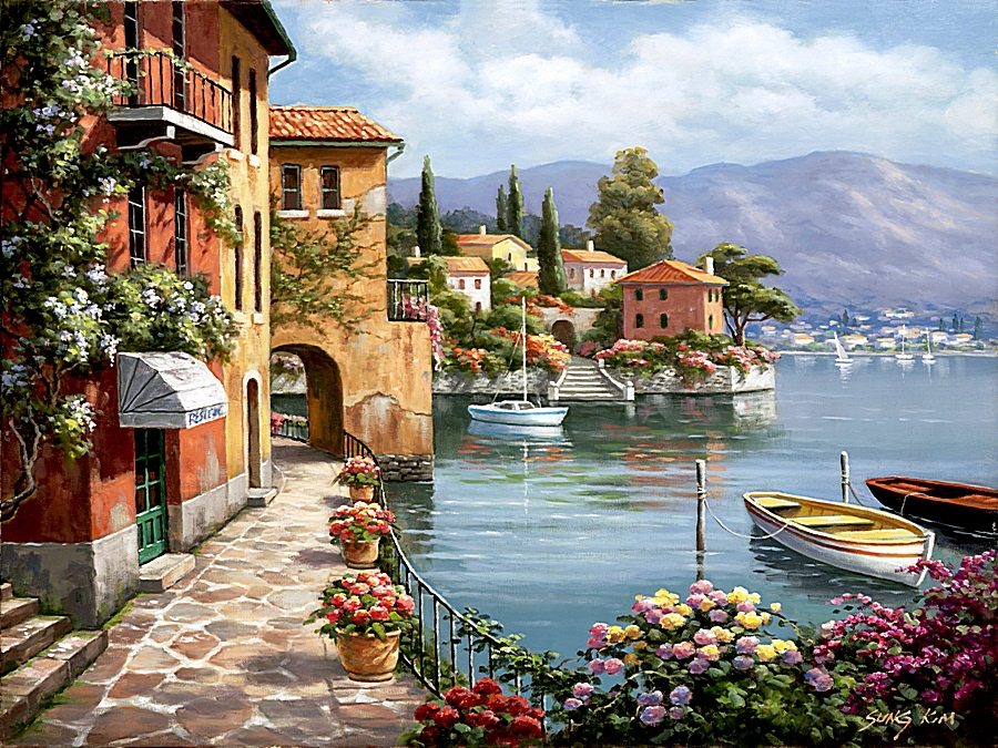 Frameless painting by numbers wall decor diy picture oil for Country living customer service number