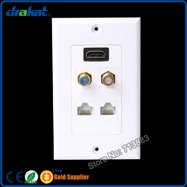 rj45 rca f hdmi video audio network wall plate in computer. Black Bedroom Furniture Sets. Home Design Ideas