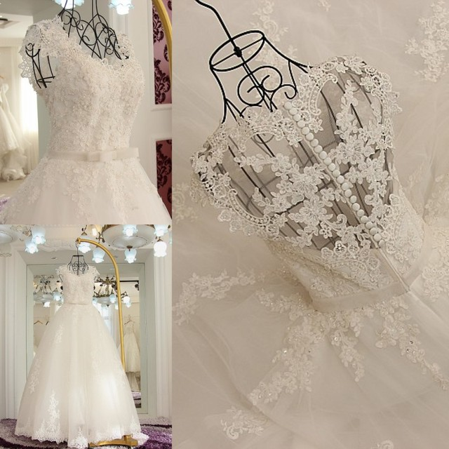 Tulle Lace Beading Sequins Arab Wedding Dress 2017 High Quality ...