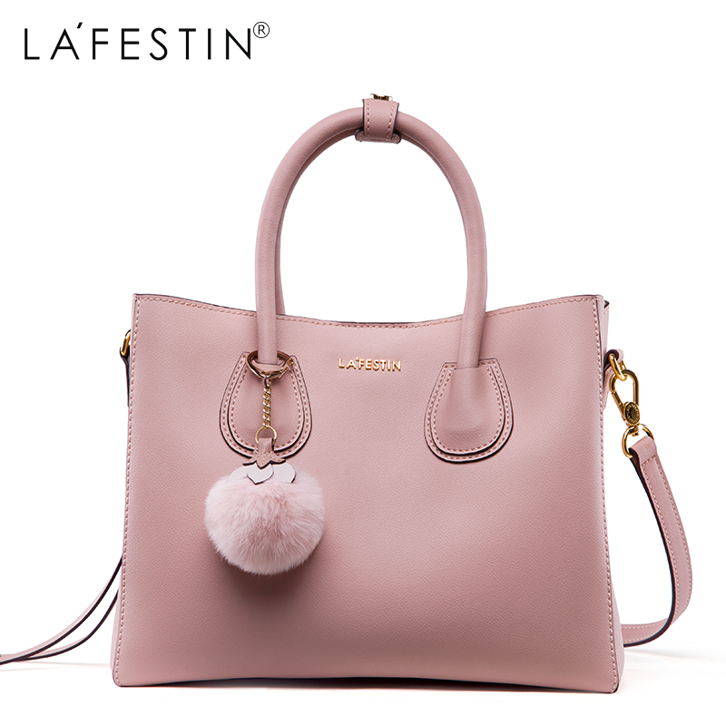 LAFESTIN 2018 Women Handbag Leather Bag Lady Soild Shoulder Bag Crossbody Bags Fashion Female Bags 2016 women fashion brand leather bag female drawstring bucket shoulder crossbody handbag lady messenger bags clutch dollar price