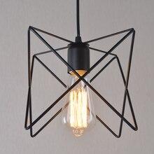 Protector de lámpara de jaula de alambre colgante de luz colgante de apertura y cierre Industrial de estilo Vintage