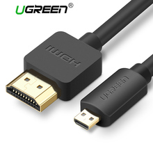 Ugreen Micro HDMI to HDMI Cable 2M Gold-Plated 1.4 3D 2K 1440P High Premium Cable Adapter for HDTV XBox Mobile Phone Table Cable