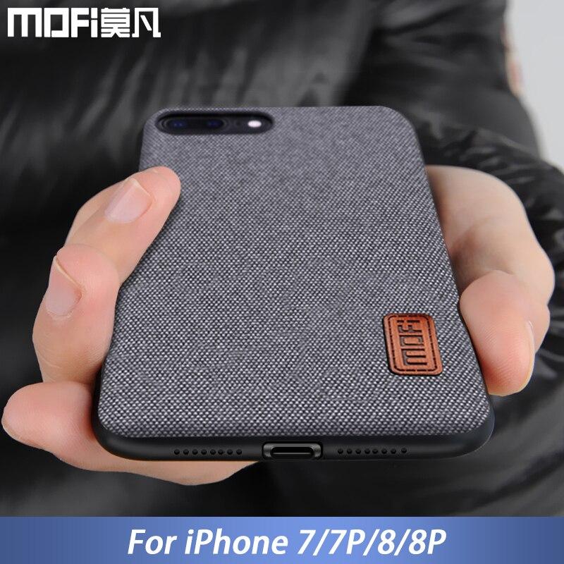 Funda MOFi para iphone 8 iphone 8 plus funda Borde de silicona a prueba de golpes a prueba de hombres de negocios cubierta 8 P 7 plus caso para el iphone 7 caso