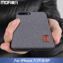 MOFi iphone için kılıf 8 iphone 8 artı kılıf kapak silikon kenar darbeye iş erkek arka kapak 8 P 7 artı iphone için kılıf 7 kılı...
