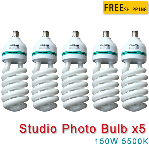 Yuguang 5pcs 220V 150W E27 5500K Photography Lighting Video Bulb Daylight Balanced E27 5500k Energy Saving