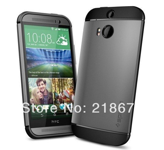 lowest price 5a308 e40e5 US $8.99 |For HTC ONE2 M8 Case, High Quality Spigen SGP Slim Armor Case For  HTC M8 Mobile Phone Cover Bags Free Shipping on Aliexpress.com | Alibaba ...