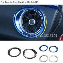 Автомобиль внутренняя гарнир крышка детектор отделкой спереди сбоку кондиционер на выходе Vent 2 шт. для Toyota Corolla Altis 2017 2018 2019