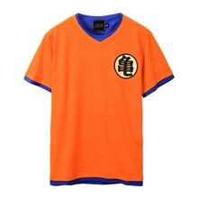 Лучший!  Мужская хлопковая футболка с v-образным вырезом модная повседневная Dragon Ball Z Goku с принтом  Лучший!