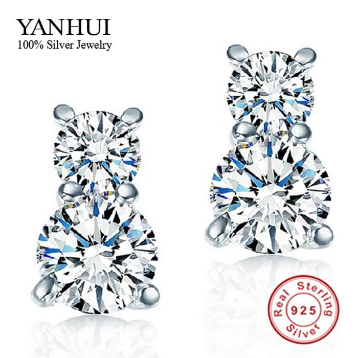 Ek776 Korean Fashion Front Back Post Hanging Stud Earrings Black Bowknot Crystal Earrings For Women Diamante Brincos Jewelry Jewelry & Accessories