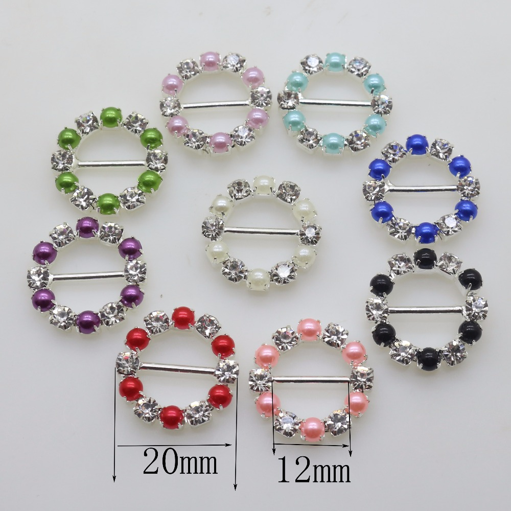 10pcs/Set  20mm Rhinestone Buckles Diamond Invited to the Wedding Decoration Ribbon Rlider, DIY Hair Ornaments, Factory