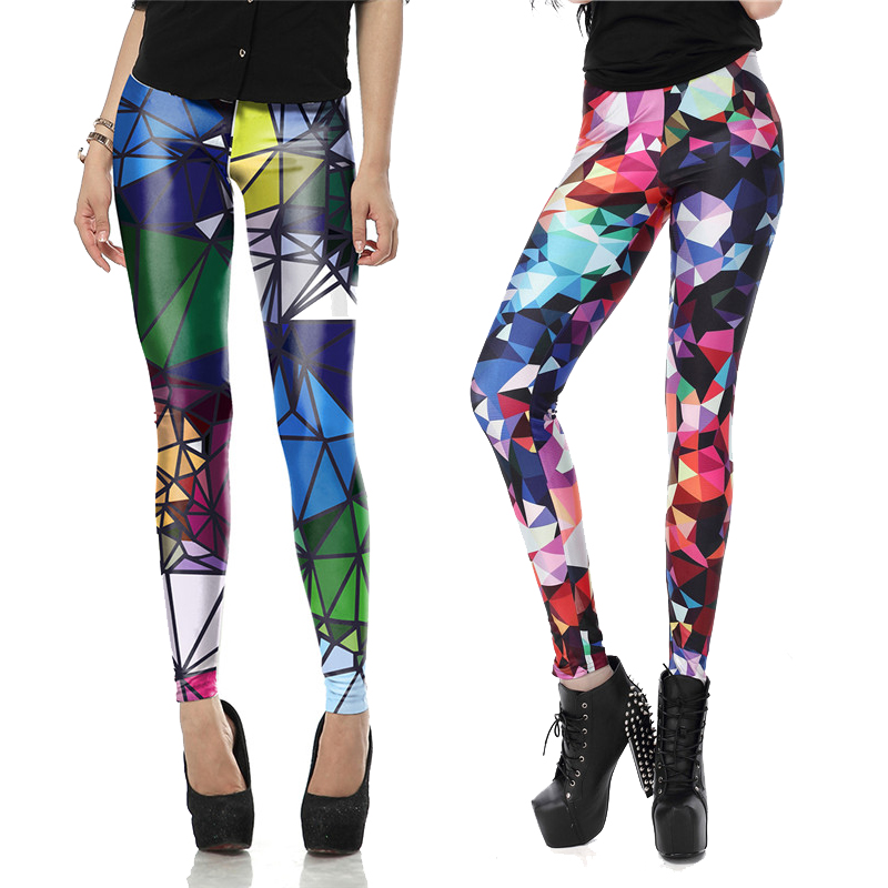 Summer Autumn Sexy Legging New Arrival Legins Geometric Boho Art Leggins Printed Women Leggings Woman Pants Boho Art Leggins UK(China)
