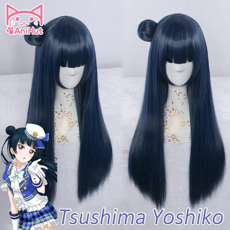 """Tsushima Yoshiko Wig Cos Prop Heat Resisting 28"""" Love live Sunshine !"""
