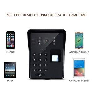 Image 3 - Wifi וידאו דלת טלפון חכם אלחוטי פעמון RFID סיסמא דלת טלפון אינטרקום טביעות אצבע נעילה נייד וידאו פעמון