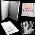 Professional 308 Colors Nail Gel Polish Display Book Chart &13 Pcs Natural Flatback Chart Nail Art Salon set