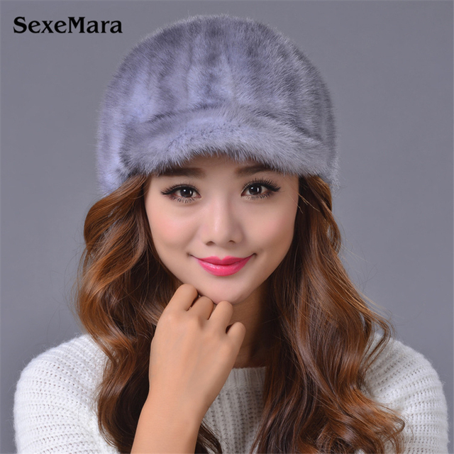 2016 Hot Sales Hat Fashion Warm Skullies Fur Hat Fur Hat For Women Winter Gorros Mujer Inviterno Knittded Hats Free Shipping