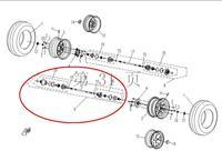 השמאלי האחורי סרן כונן פיר כונן assy של CF500X5 CFMOTO טרקטורונים, חלקי מספר הוא 9010-280100-0001