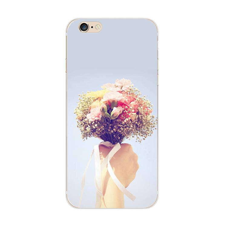 Чехол силиконовый с индивидуальным дизайном «Микс цветов» для iPhone