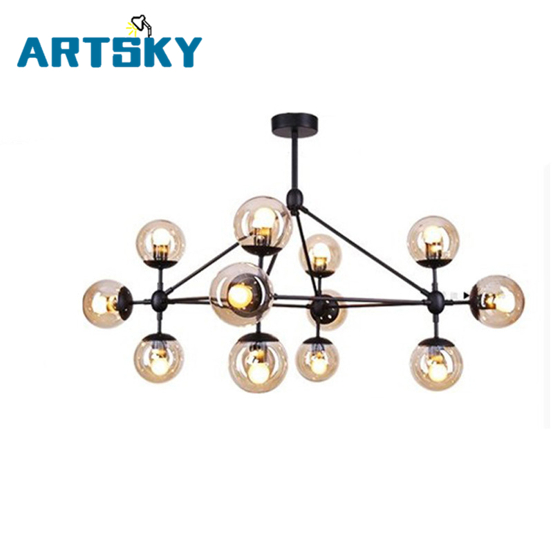5,10,15,21 head dining room decoration LED modo Chandelier living room dha lights glass globe light AC90-265V free shipping 3 6 head modern contracted janpen style wood pendant light metal cover dining room light study light ac90 265v free shipping