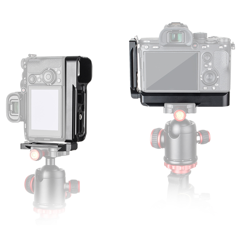 Accessoires support de caméra coulissante photographie en forme de L plaque de dégagement rapide en alliage d'aluminium anti-dérapant pour Sony A7M3 A7R3 A9 A7III