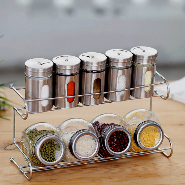 Aliexpress.Com : Buy Kitchen Supplies Glass Spice Bottle Set Sauce