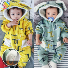 Lemonmiyu Baby WInter Cartoon Overalls For Children Hooded