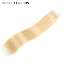 Rebecca Remy Light Blonde 613# Brazilian Silky Straight Weave Human Hair Bundles 1pc Straight 113g For Salon Hair Extensions
