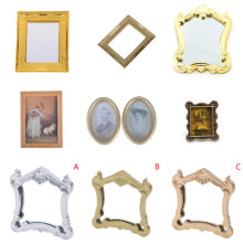 1/12 Dollhouse Photo Frame Mini Oil Painting Dollshouse Miniature Furniture Doll House Resin Picture Frame Toys(China)