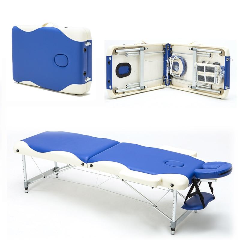 Professionnel Portable Pliage Lit De Massage avec Carring Sac Salon Meubles En Bois Lit Pliable Beauté Spa Table De Massage Lit
