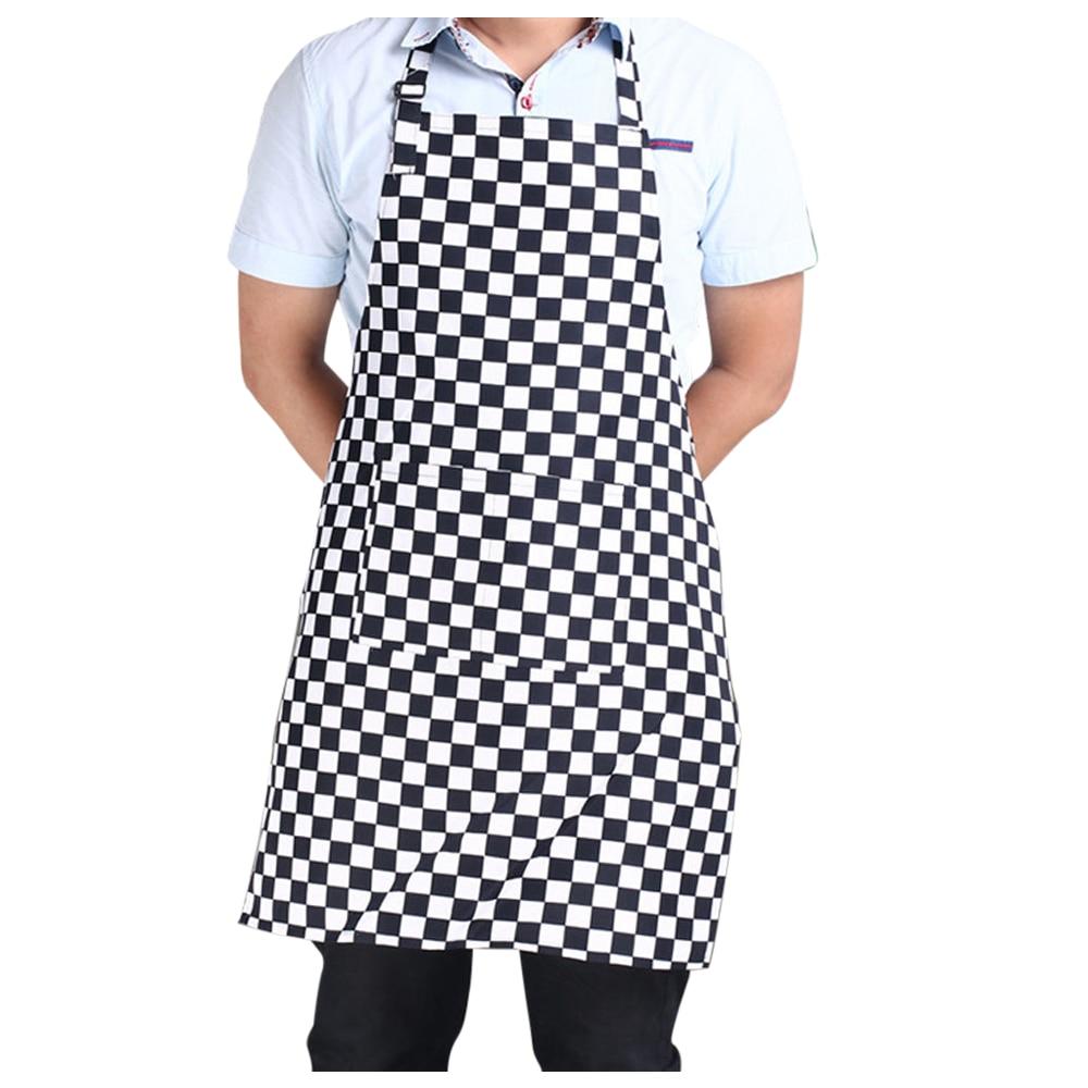 White apron tape - Practical Hotels Chef Waiter Halter Neck Apron Black White Lattice Halter Neck Apron China