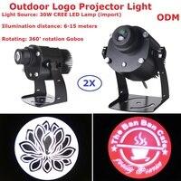 2 XLot логотип проектор огни 30 Вт CREE светодио дный Светодиодная лампа магазин почта Ресторан Добро пожаловать лазерный проектор Тени Дизайн с