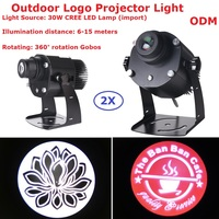 2XLot Logo Projector Lights 30W CREE LED Lamp Shop Mail Restaurant Welcome Laser Projector Shadow Design Own Customized Display