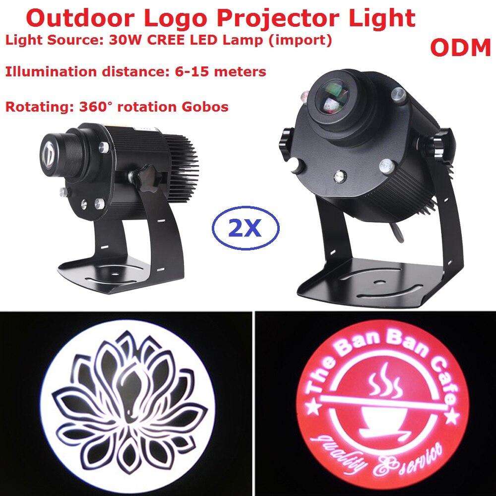 2XLot Logo projecteur lumières 30W CREE lampe à LED magasin Mail Restaurant bienvenue Laser projecteur ombre conception propre affichage personnalisé