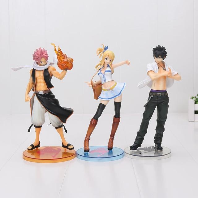 Anime Fairy Tail Figure Natsu Dragneel Gary Fullbuster Lucy Heartfilia Erza Scarlet PVC Action Figure Figure Toy Model 13-24cm 1
