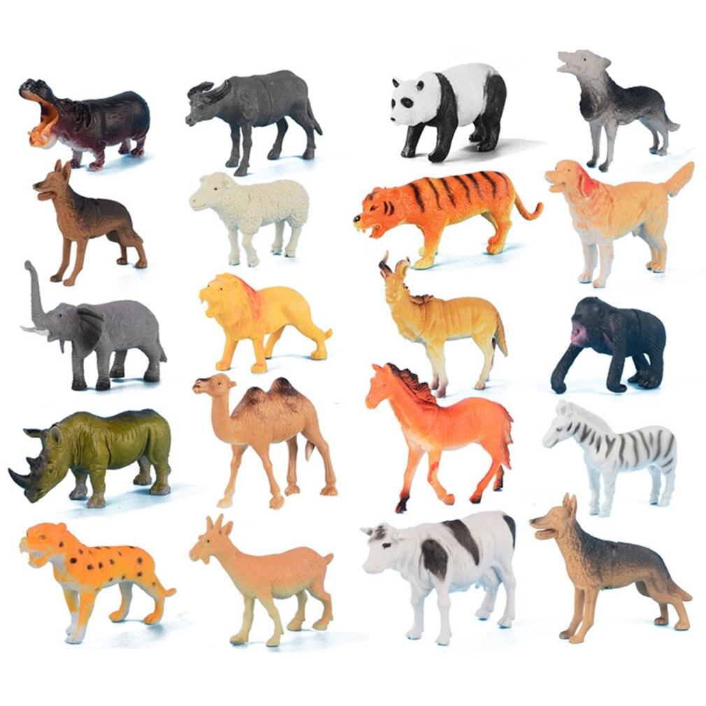 Animal modèle forêt sauvage Animal domestique cadeau pour enfants jouets animaux ornements cadeaux pour bureau décoration de la maison